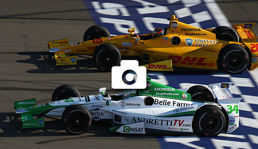 Ryan Hunter-Reay and Carlos Munoz