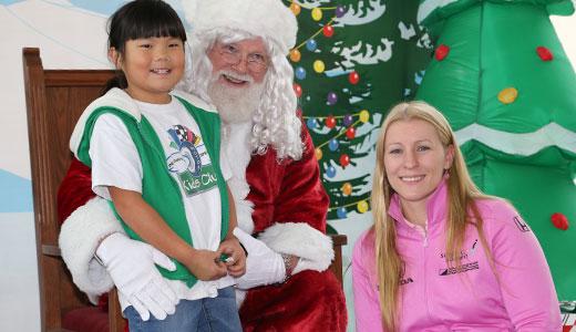 Santa Claus and Pippa Mann