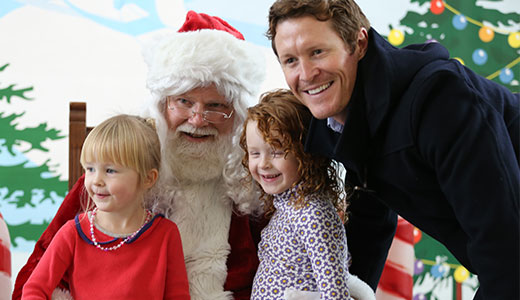 Scott Dixon and Santa Claus