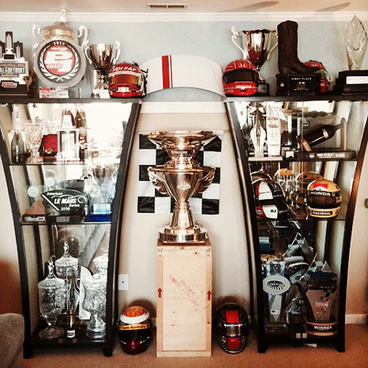 Simon Pagenaud's Trophy Case