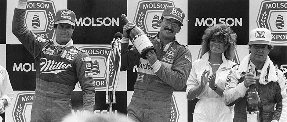 Bobby Rahal, Danny Sullivan, and Mario Andretti