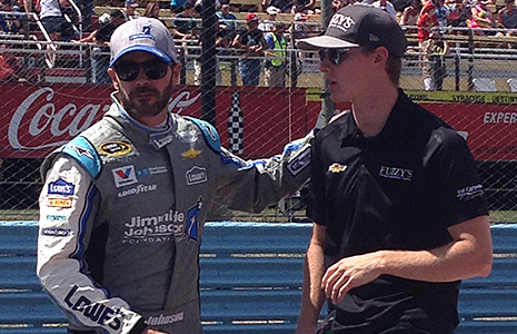 Josef Newgarden and Jimmie Johnson