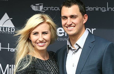 Courtney Force and Graham Rahal