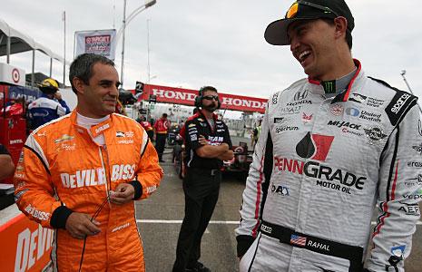 Juan Pablo Montoya and Graham Rahal