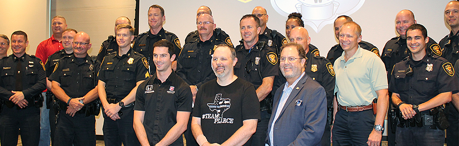 Alexander Rossi, Eddie Gossage, and the Ft. Worth Police
