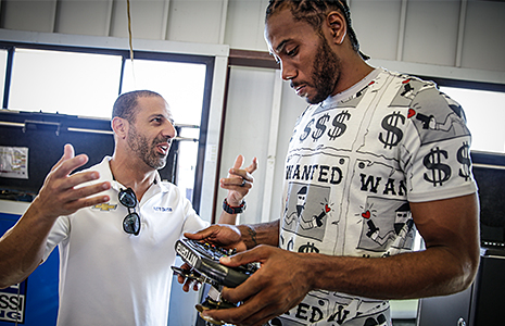 Kawhi Leonard and Tony Kanaan