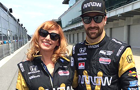 James Hinchcliffe and Kari Byron