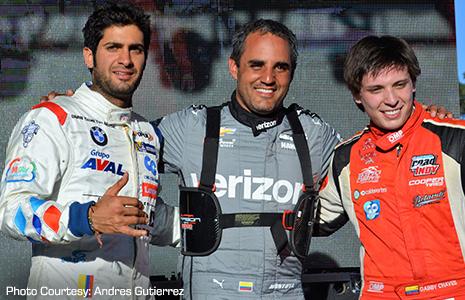 Gustavo Yacaman, Juan Pablo Montoya, and Gabby Chaves