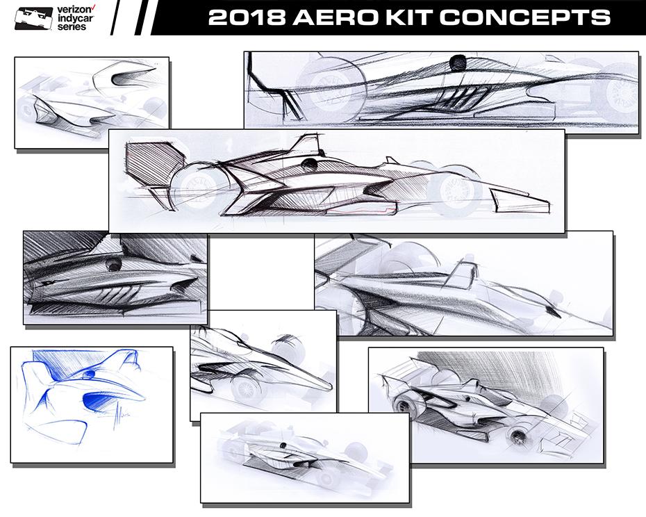2018 Universal Aero Kit Concept Sketches