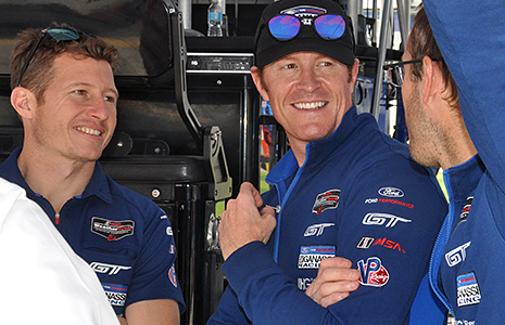 Scott Dixon, Ryan Briscoe, and Sebastien Bourdais