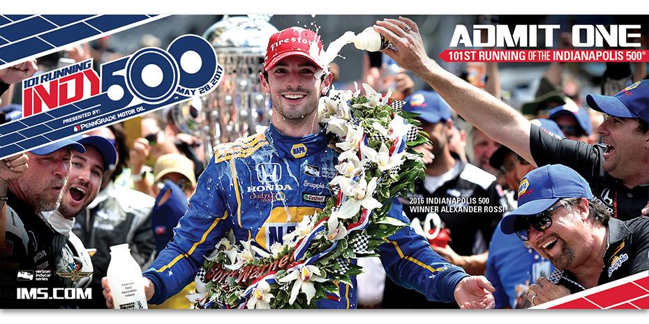 2017 Indianapolis 500 Ticket