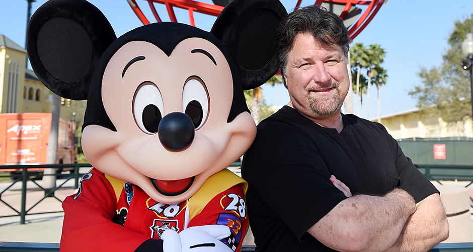 Mickey Mouse and Michael Andretti