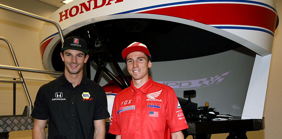 Alexander Rossi and Cole Seely