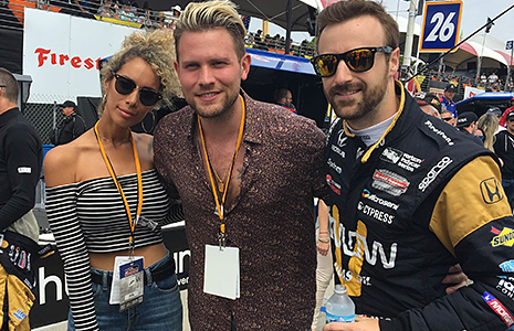 Leona Lewis and James Hinchcliffe