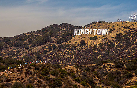 Hinchtown Hollywood Sign