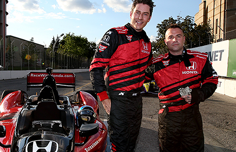 Arie Luyendyk, Jr. and Johnny Christ