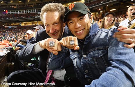 Takuma Sato and Larry Baer