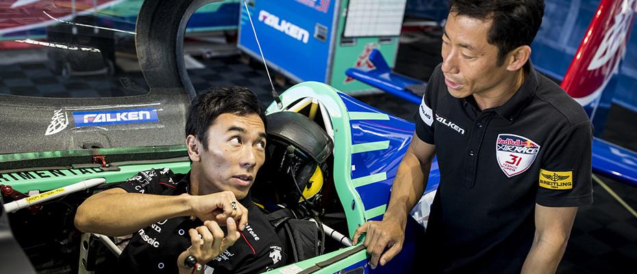 Takuma Sato and Yoshi Muroya