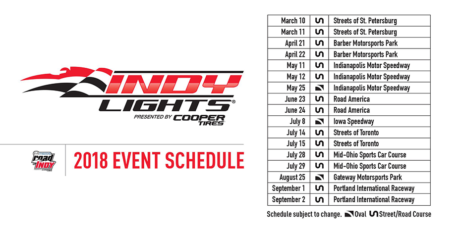 2018 Indy Lights Schedule
