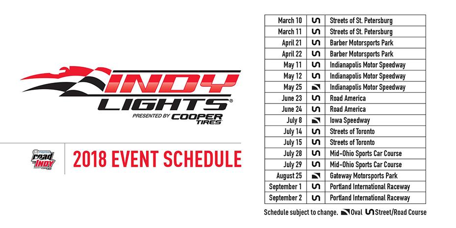 2018 Indy Lights Schedule
