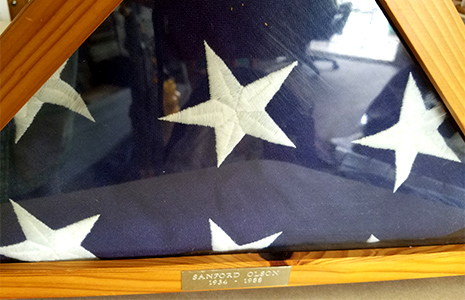 Sanford Olson's flag
