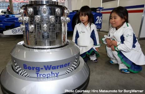 Borg-Warner Trophy at Motegi, Japan
