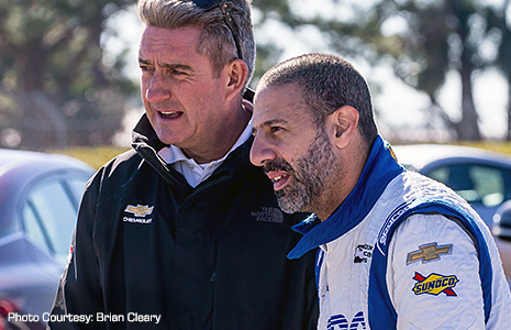 Tony Kanaan and Wayne Bennett of Ilmor/Chevrolet