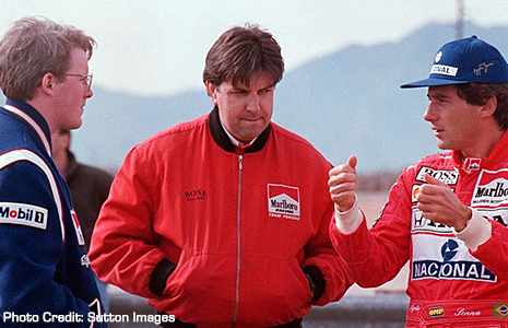 Ayrton Senna and Paul Tracy