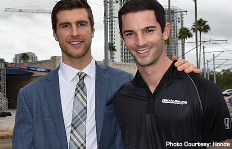 Alexander Rossi and Alex Pietrangelo