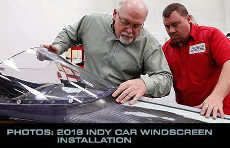 2018 Indy car windscreen