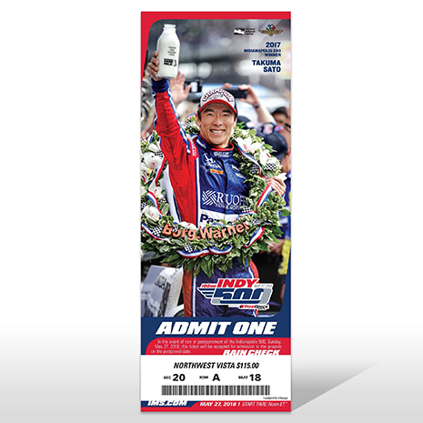 102nd Indianapolis 500 Ticket