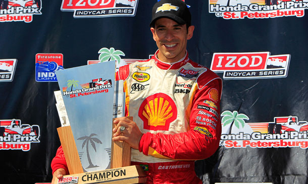 Trophy Celebration for Helio Castroneves