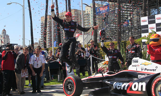 Will Power Jumps Long Beach Victory Lane