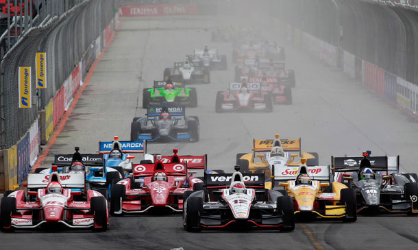 Start of the 2012 Sao Paulo Indy 300