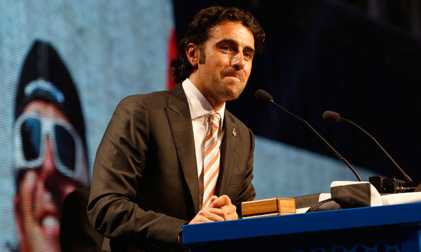Dario Franchitti Speaks At Banquet