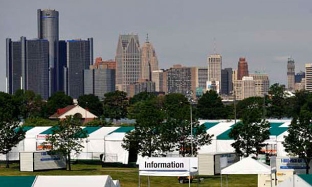 Detroit Skyline from Belle Isle