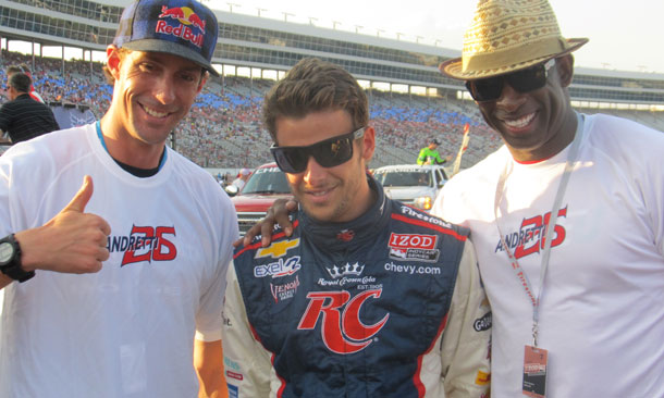 Deion Sanders and Travis Pastrana with Marco