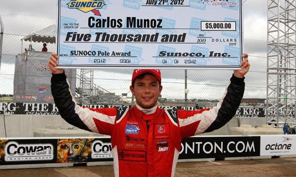 Carlos Munoz Wins FIL Pole at Edmonton