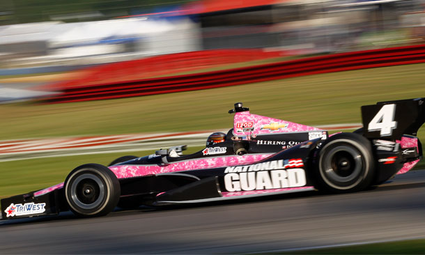 Pink Camo for Hildebrand at Mid-Ohio