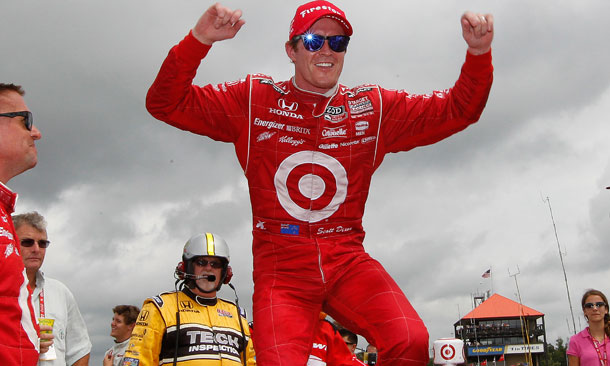 Dixon Celebrates Win At Mid-Ohio