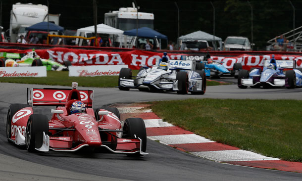Track Action at Mid-Ohio - Dixon Leads in the Esses