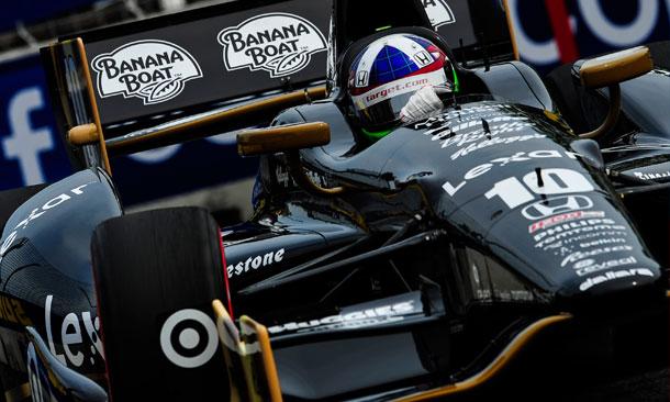 Dario Franchitti drives at Baltimore
