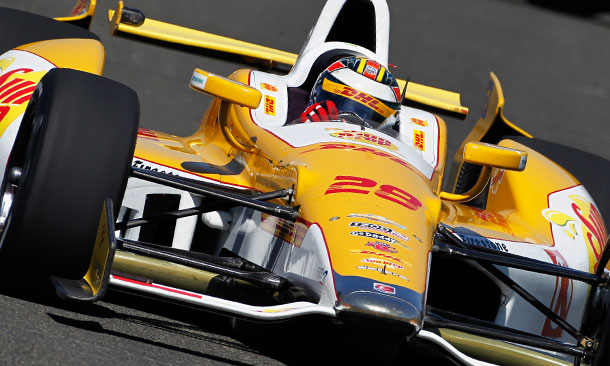 Ryan Hunter-Reay at Auto Club Speedway