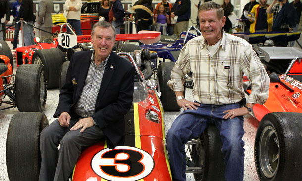 Johnny Rutherford and Bobby Unser at IMS Fan Appreciation Night