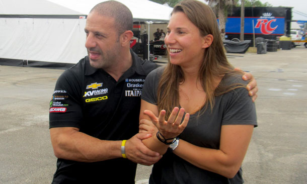 Kanaan and de Silvestro at test