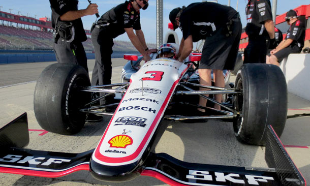 Castroneves at Auto Club Speedway Test