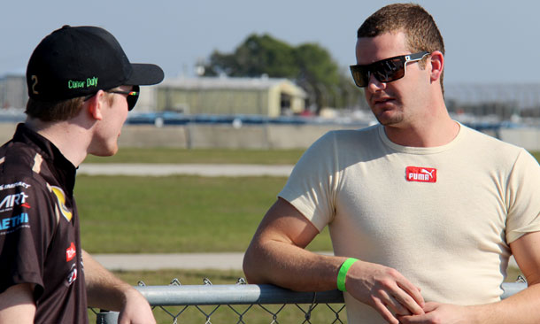 Clary talks with Conor Daly at Skip Barber Academy