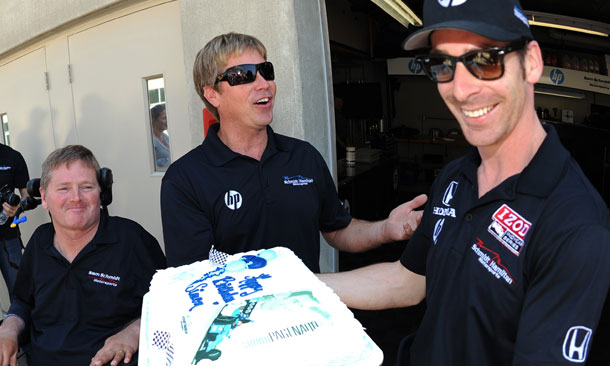 Davey Hamilton celebrates Simon Pagenaud's Birthday