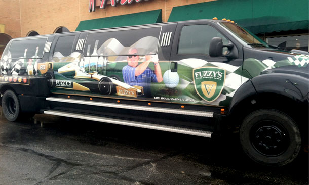 Fuzzy's Vodka Van in Superbowl Parade