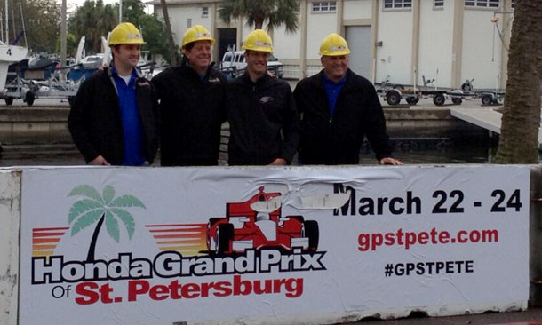 St. Petersburg track begins construction